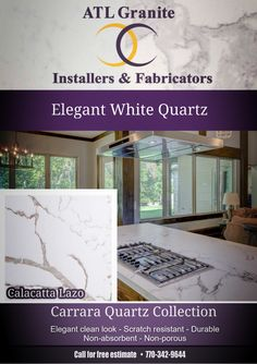 Woodstock QuartzCountertops Are you thinking of renovating your kitchen or bathroom? ATL Granite Installers is yourbest option when it comes to remodeling your kitchen, bathroom, bar and fireplace countertops. Our pledge is to always deliver top-quality materials and craftsmanshipwhile offeringthe best prices in theindustry. Black Granite Countertop Ideas Discount Atlanta QuartzCountertops Gorgeous White Kitchens –