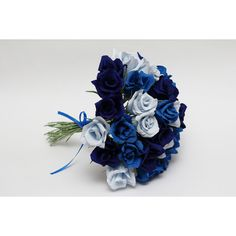 Bridesmaid bouquet, paper flowers, wedding flowers, wedding roses,... ($48) ❤ liked on Polyvore