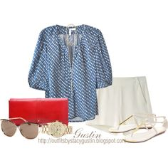 """""""red white and blue"""" by stacy-gustin on Polyvore"""