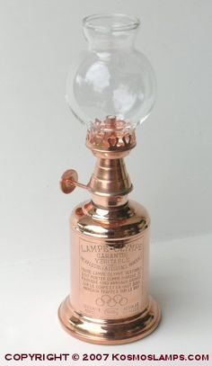 """Vintner"" Copper Oil Lamp"