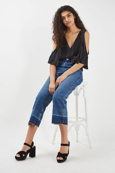 **Calvin Spot Cold Shoulder by Nobody's Child - Tops - Clothing - Topshop