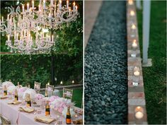 glamorous backyard bridal shower: if we can have it in someone's backyard instead this would be gorgeous!