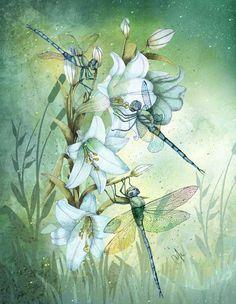 """Iridescence"" by Marine Loup  Art."