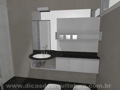 Banheiro moderno. http://dicasdearquitetura.com.br/banheiro-moderno/