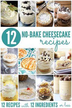 12 No Bake Cheesecake Recipes | Bread Booze Bacon