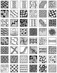 Image result for printable directions for zentangle patterns