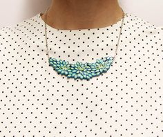 Springy handmade water resistant paper necklace by LucyPaper https://www.facebook.com/Paper.Lucy