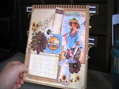 Graphic 45 Place In Time Easel Album Scrapbook Calendar