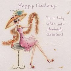 Cards » To a lady who's absolutely Fabulous » To a lady who's absolutely…