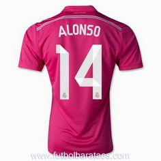 cc3596a4483 Maillot Real Madrid 2014-2015 ALONSO 14 Extérieur pas cher Soccer Boots