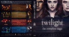 The Twilight Saga - Complete Collection - Twilight, New Moon, Eclipse, Breaking Dawn Part 1 & 2 Blu-ray Custom Cover