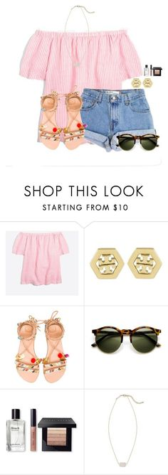 """Last day in Orlando"" by flroasburn on Polyvore featuring J.Crew, Levi's, Tory Burch, Elina Linardaki, Bobbi Brown Cosmetics and Kendra Scott"