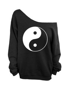Hey, I found this really awesome Etsy listing at https://www.etsy.com/listing/165519312/yin-yang-black-slouchy-oversized-crew