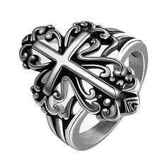 Wishfan Men's Fashional Cross Pattern Stainless Steel Ring Wishfan http://www.amazon.com/dp/B016WCC5MU/ref=cm_sw_r_pi_dp_k41jwb1XMH5E4