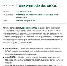 Une typologie des MOOC #MOOC #education