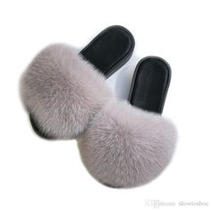 d0560082ae9 Concise Home Lazyman Slippers For Women Skidproof Thick Heel Flat Slides  Soft Fur Fashion Outwear Women Slippers