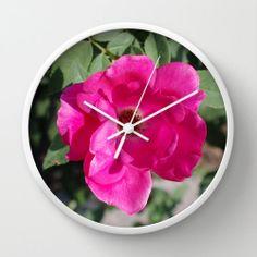 #Pink #Rose #Room #Decor #Office #Green #Modern #Clock by #PhotographybyLadybug, $50.00