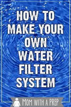 The big name water filter systems are expensive, but there is a way to make one yourself for a fraction of the cost!