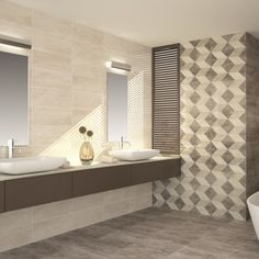 Colter cream wall tiles are part of the Colter range of decorative and plain wall tiles. This versatile range is perfect for inspiring bathroom tiling ideas and kitchen tile designs.