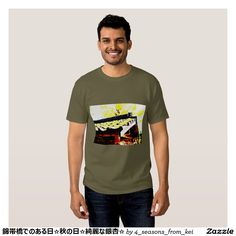 錦帯橋でのある日☆秋の日☆綺麗な銀杏☆ Tシャツ