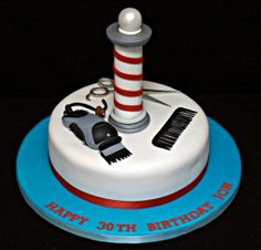Cake idea for barber graduation party