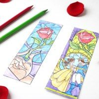 http://cutesycrafts.com/2017/02/beauty-and-the-beast-coloring-page-bookmarks.html