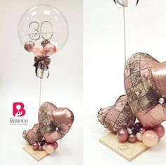 😊Как вам сочетание шариков и декора? Repost from…」 Birthday Diy, Happy Birthday, Balloon Gift, Diy Party, Party Ideas, Atypical, Balloons, Centerpieces, Place Card Holders