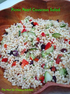 Picnic Pearl Couscous Salad | The Not So Cheesy Kitchen