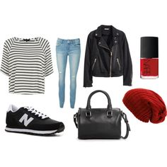 new balance shoes by wickeddchildd on Polyvore featuring Mode, H&M, New Balance, MANGO and NARS Cosmetics