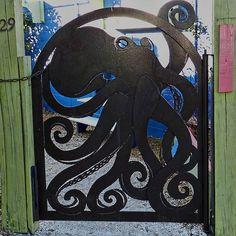 Octopus gate on Anna Maria Island, FL. Via Flickr.