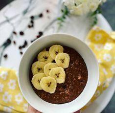 Kakaós zabpuding Cereal, Oatmeal, Breakfast, Food, Breakfast Cafe, Essen, Yemek, Rolled Oats, The Oatmeal