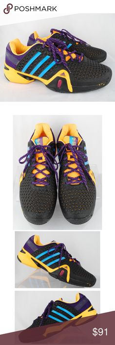 buy popular a7172 30949 Adidas Mens Black Sneakers Athletic Shoes Adidas Mens Black, Purple   Orange Sneakers Athletic Shoes