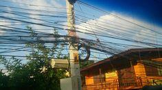 電柱 Transmission Line, Utility Pole, Style, Swag, Outfits