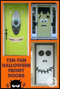 Halloween doors