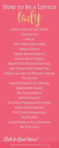 How to Be a Lovely Lady   Femininity   Lady-like Etiquette   How to Be a Lady   How to Be Classy   Be a Lady   Be Lovely