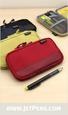 Designed for active, action-packed lifestyles, the Lihit Lab Actact Pencil Case has practical details like large zipper pulls and water-repellent fabric.