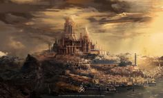 Silmarillion Illust: Armenelos the Golden, Numenor by Tolrone
