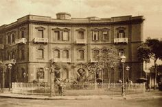 The Exterior Facade of the French Consulate Building at Tewfikieh Square- with the same Architectural design of Suarès Building - Photo by Max H. Rudmann - Cairo Egypt 1906.
