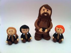 fondant harry potter character cake/cupcake toppers