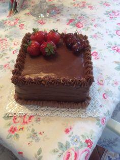 Ganache cake made by me!