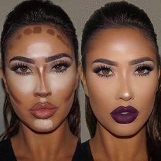 Make up contouring, how to contour, face contouring makeup, contouring Makeup Contouring, Contouring And Highlighting, Skin Makeup, Strobing, Contouring Products, Easy Contouring, Contouring For Beginners, Contour Face, Makeup Eyes