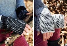 Billedresultat for pulsvarmere Fair Isle Knitting Patterns, Knitting Ideas, Free Knitting, Slip Stitch, Fingerless Gloves, Arm Warmers, Mittens, Diy And Crafts, Crochet