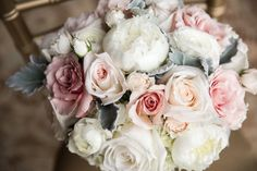 Southern Wedding Featuring Pastel Florals - Maggie Bride Chelsea wearing Janelle