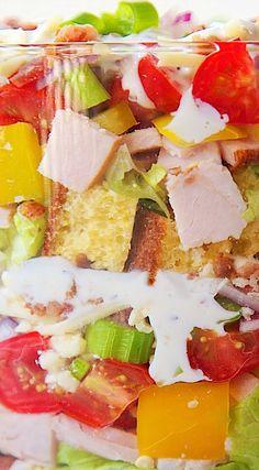 Cornbread & Turkey Layered Salad