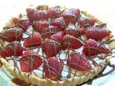 Strawberries and Cream Cheese Tart