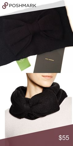 Kate Spade Bow Scarf Avoid those winter blues with Kate Spade's cold-weather accessories.  Details: NWT. Black, pastry pink, or true white. Bow Detail.   Kate Harrington Boutique does not trade or negotiate price in the comment section. However, for most items we may consider reasonable offers.   Happy Poshing! kate spade Accessories Scarves & Wraps