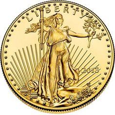 2013 - 1/4 oz. American Eagle Gold Bullion Coin - obverse side