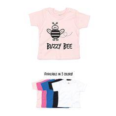 Buzzy bee shirt, baby shirt, baby shower gift, bee birthday, busy bee shirt, animal shirt, funny baby shirt, cute bee shirt, honey bee tee by KMLeonBE on Etsy
