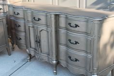 Aged Warm Silver Metallic Paint on Furniture | Modern Masters | Project by The Magic Brush
