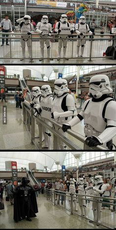 Welcoming someone home at the airport is so just romantic.